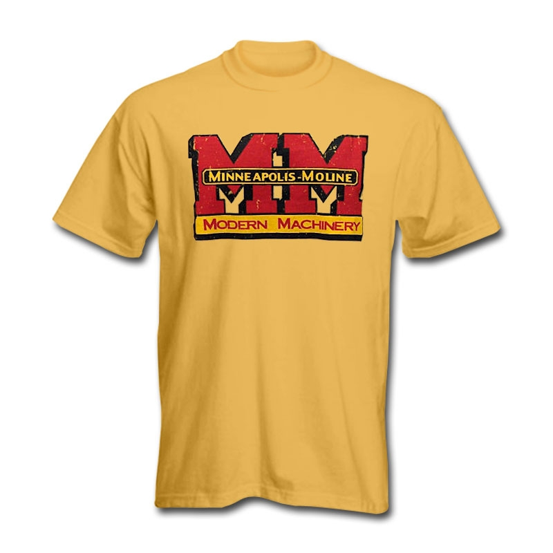 Minneapolis Moline Men's Yellow Worn Logo T-Shirt