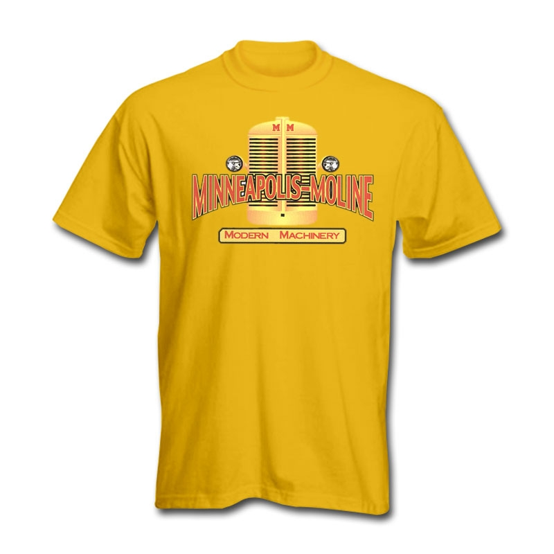 Minneapolis Moline Men's Yellow Tractor Grille T-Shirt