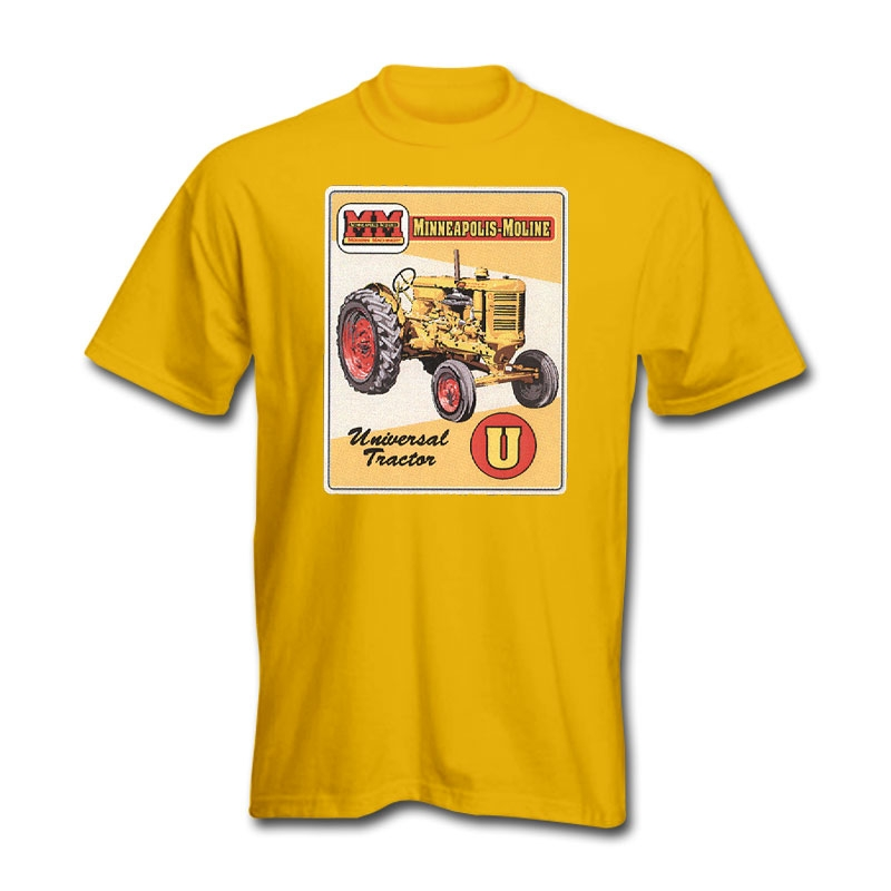 Minneapolis Moline Men's Yellow Vintage Sign T-Shirt