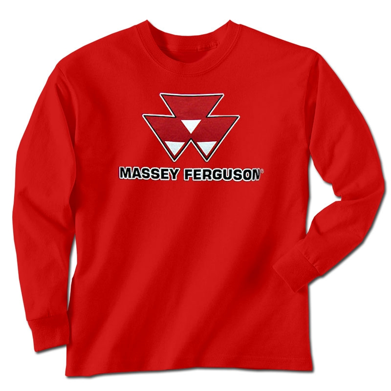 Massey Ferguson Children's Logo Long Sleeve T-Shirt