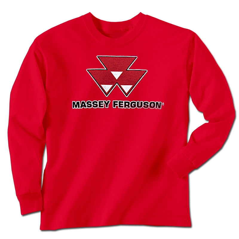 Massey Ferguson Men's Worn Logo Long Sleeve T-Shirt