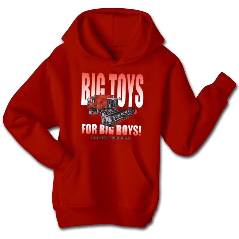Massey Ferguson Men's Big Toys For Big Boys Hoodie