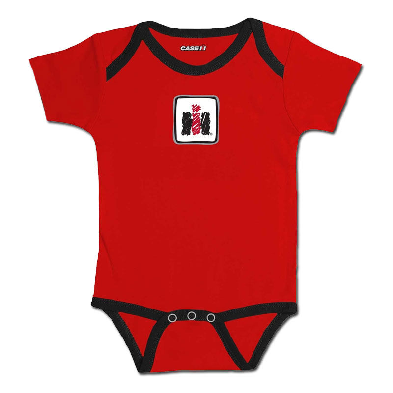 IH Scribble Logo Black Trim Onesie