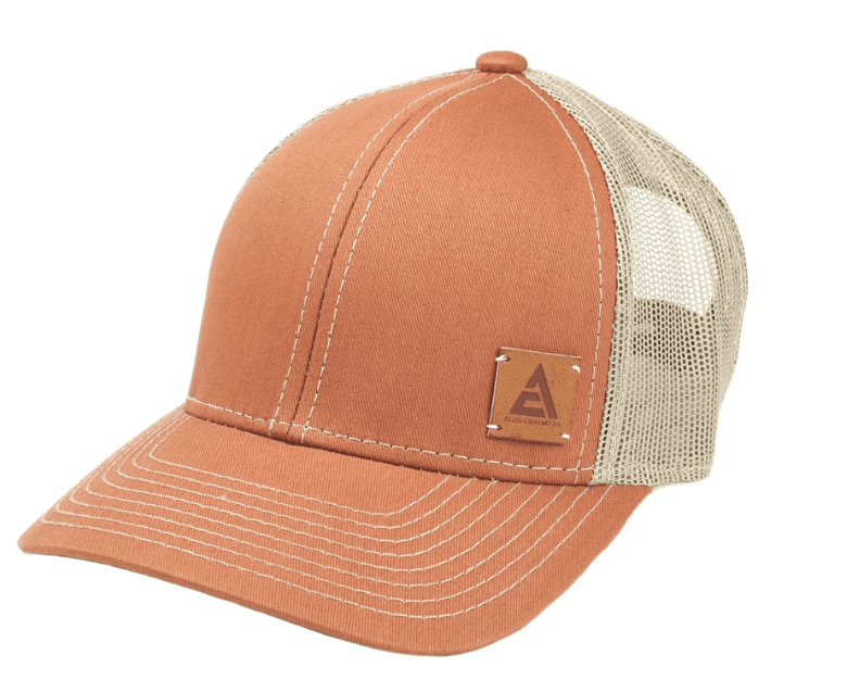 Allis Chalmers Leather Logo Mesh Baseball Cap