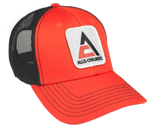 Allis Chalmers Orange and Black Mesh Baseball Hat