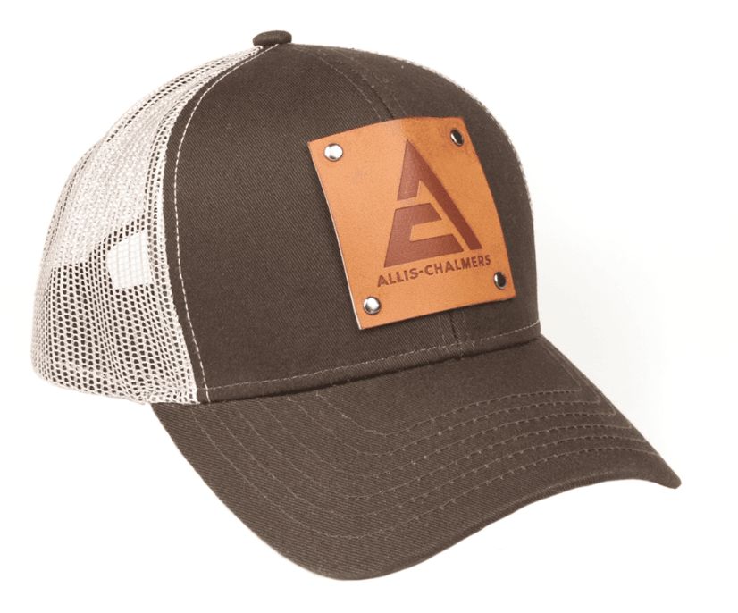 Allis Chalmers Logo Hat with Leather Emblem Baseball Cap
