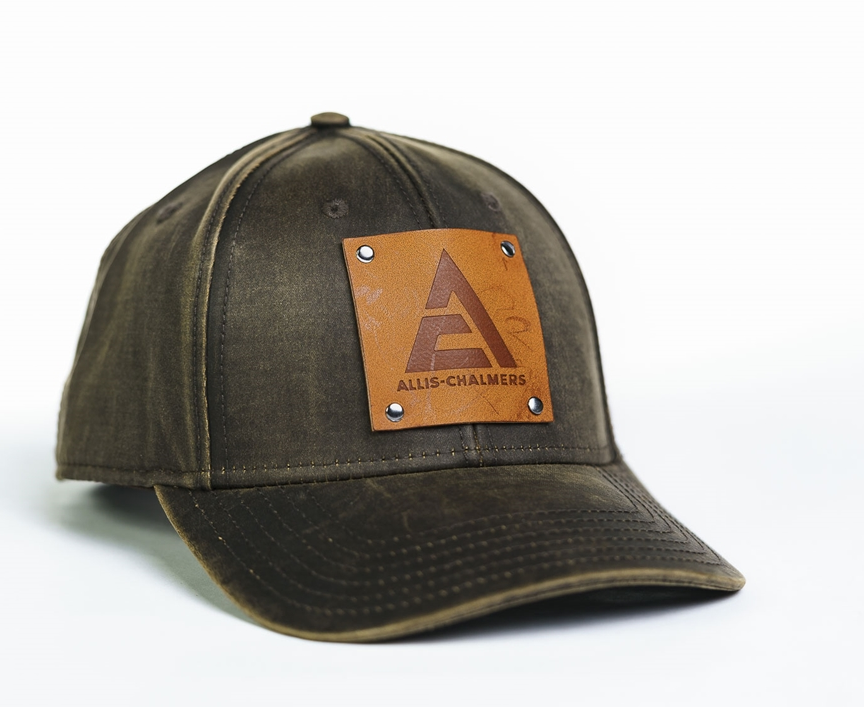 Allis Chalmers Leather Emblem Oil Distressed Cap