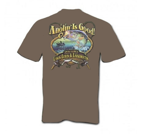 Anglin is Good When Its Lakes Lures & Largemouths T-Shirt