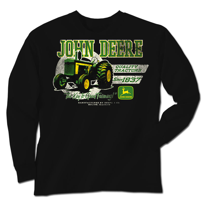 John Deere Key To Green Farming Long Sleeve T-Shirt