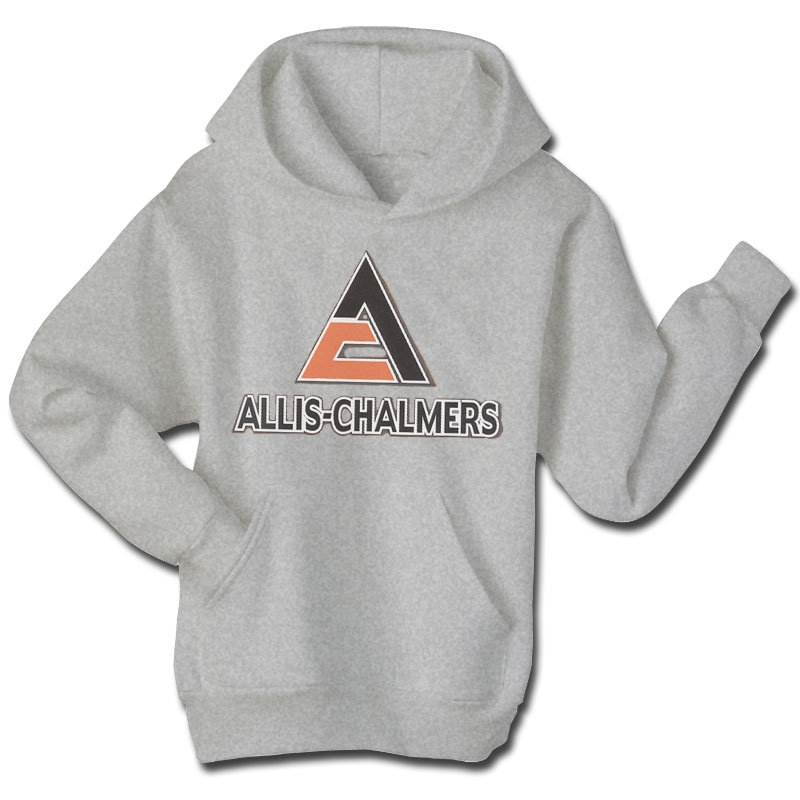 Allis Chalmers Men's Gray Shadow Logo Hoodie
