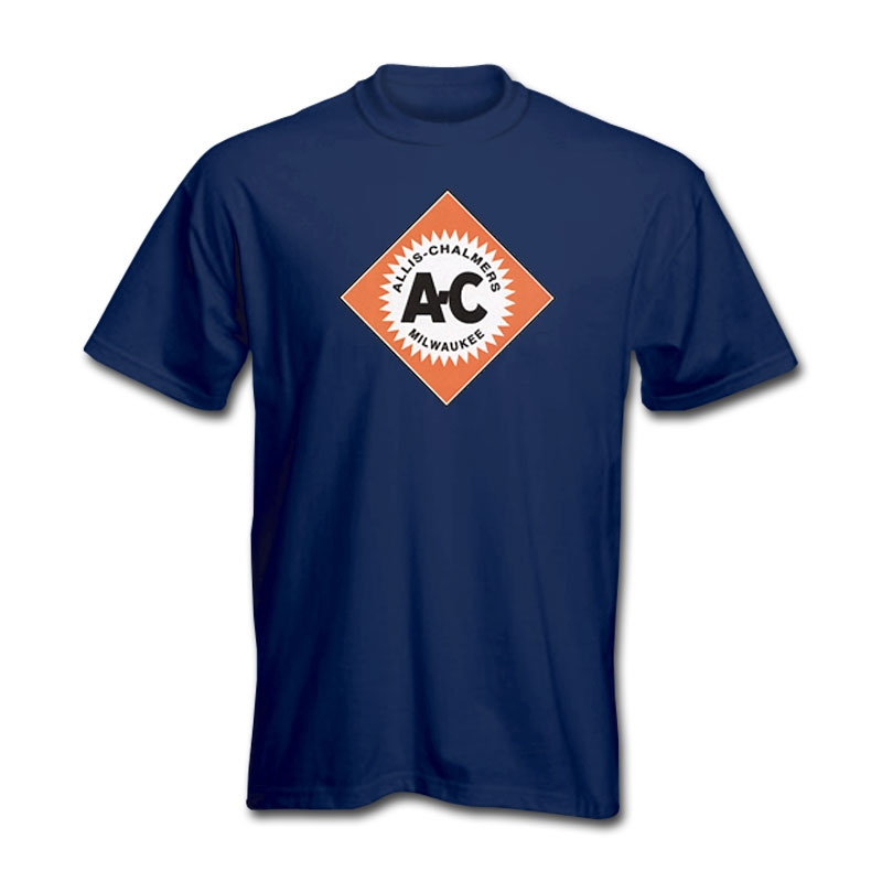 Allis Chalmers Men's Navy Diamond Logo T-Shirt