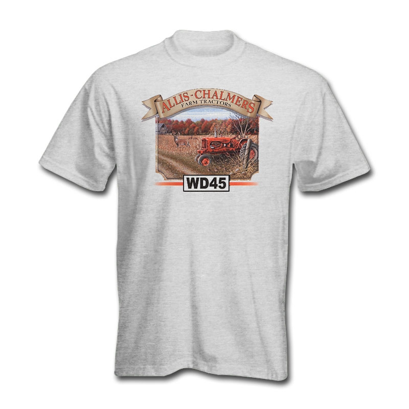 Allis Chalmers Men's Gray WD45 Tractor T-Shirt
