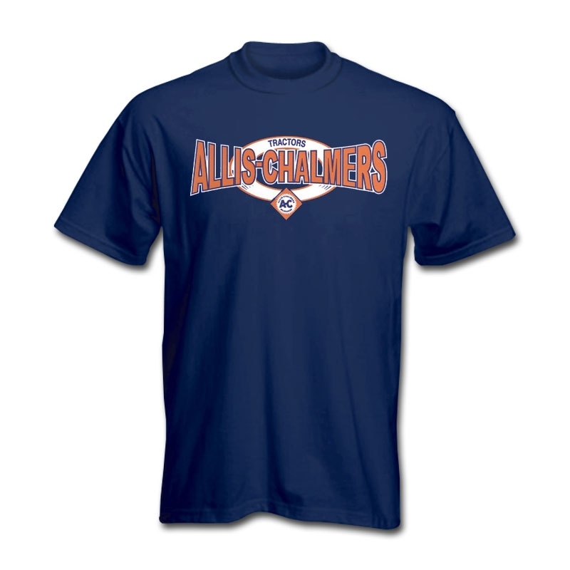 Allis Chalmers Men's Navy Squeezed Logo T-Shirt