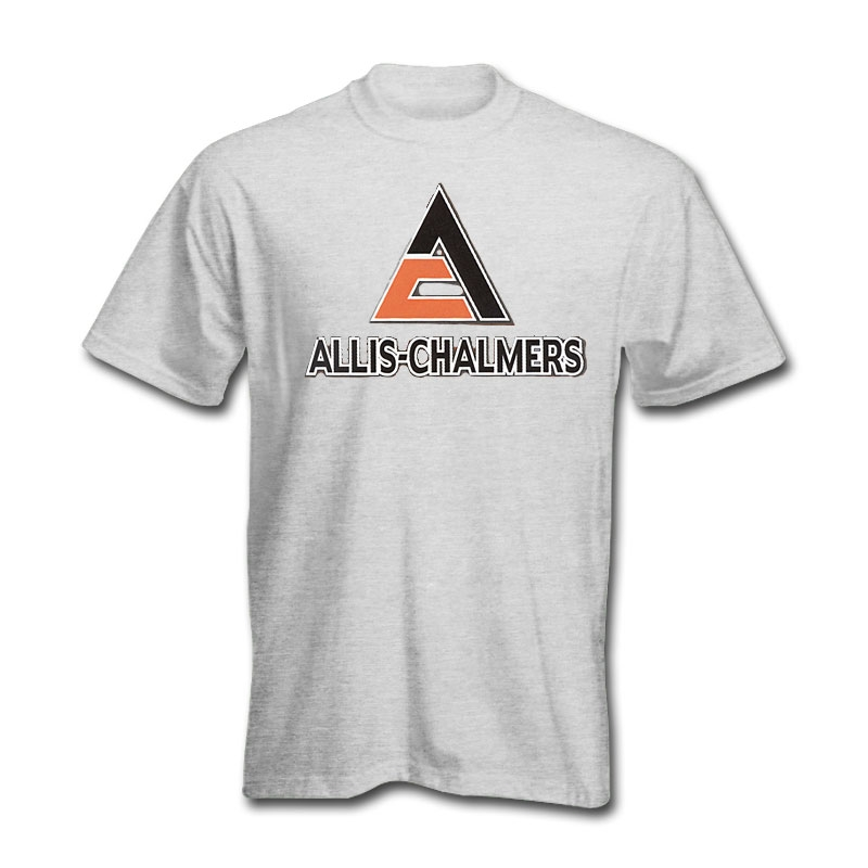 Allis Chalmers Men's Gray Shadow Logo T-Shirt