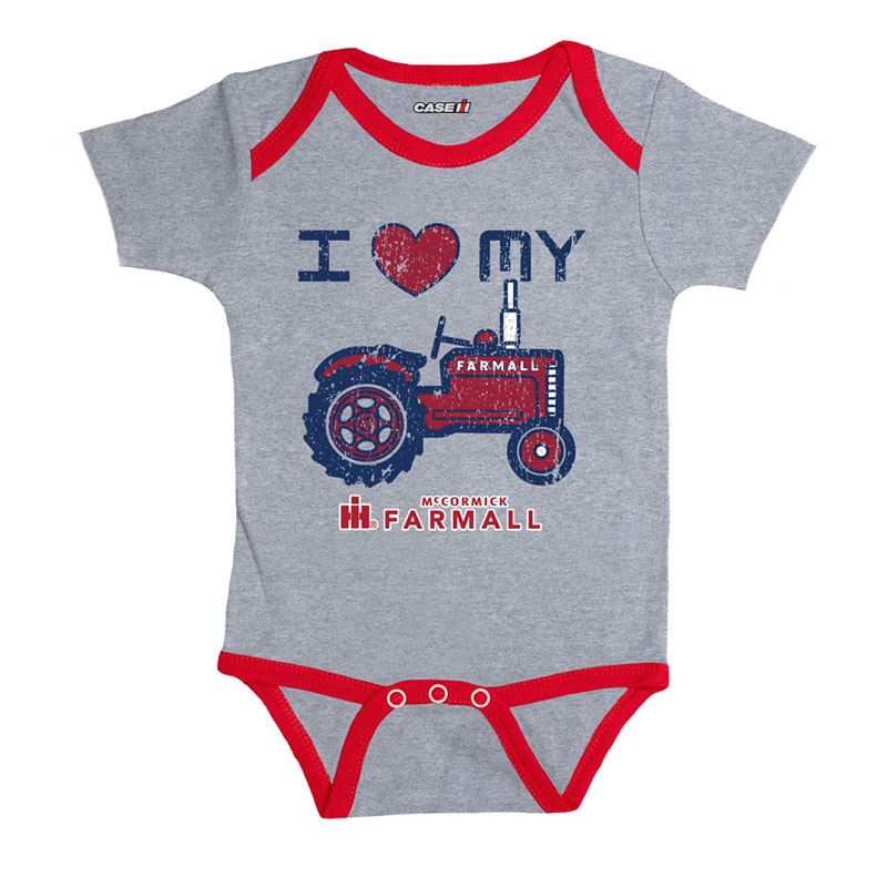 IH I Heart My Tractor Onesie