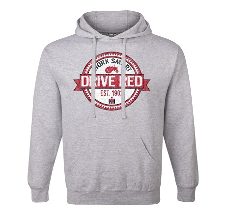 IH Work Smart Drive Red Pullover Hoodie
