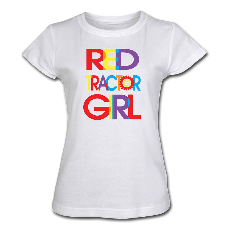IH Red Tractor Girl Letters T-Shirt