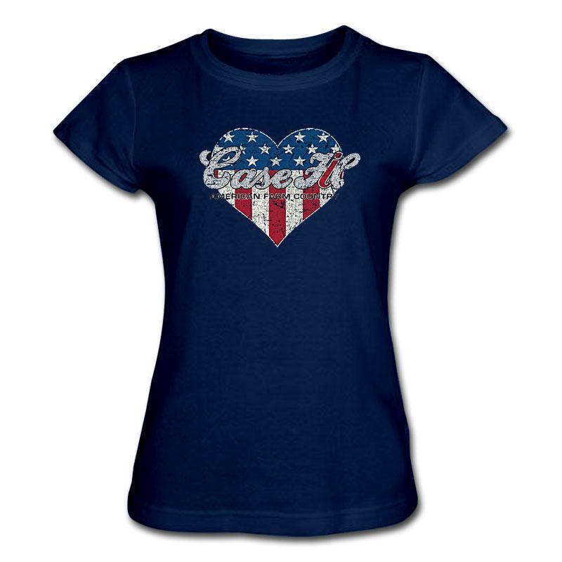 Case IH Patriotic Heart T-Shirt