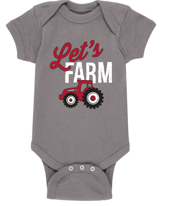 Case IH Let's Farm Onesie
