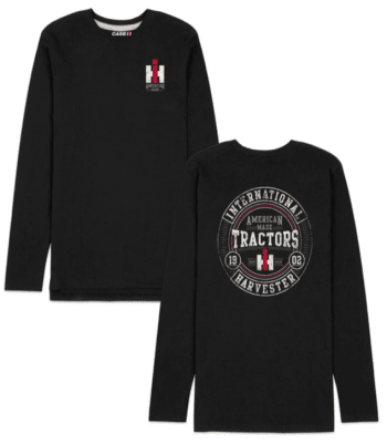 IH American Made Tractors Round Long Sleeve T-Shirt