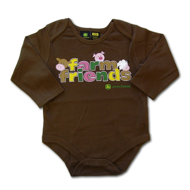 John Deere Farm Friends Long Sleeve Onesie