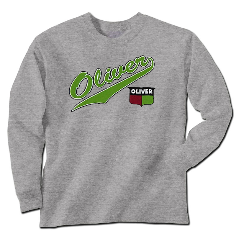Children's Oliver Crest and Script Tail Logo Long Sleeve T-Shirt