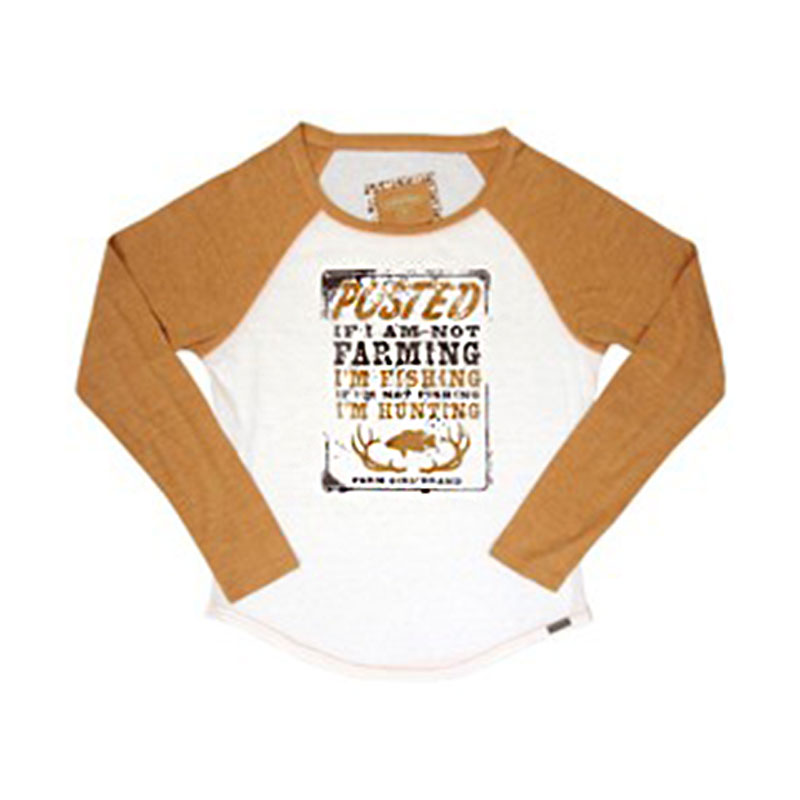 Farm Girl Hunting And Fishing Raglan Long Sleeve T-Shirt