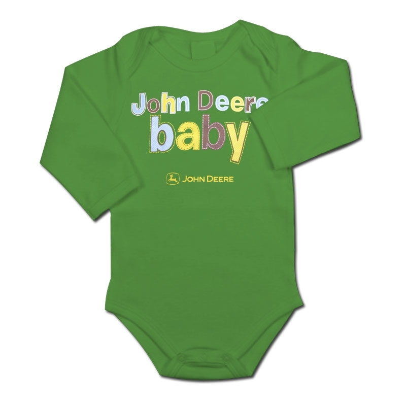John Deere JD Baby Long Sleeve Onesie