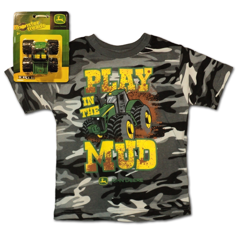 John Deere Play In The Mud T-Shirt And Toy Set