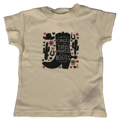 Farm Girl This Princess Wears Boots T-Shirt