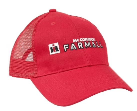 IH Farmall Red Mesh Logo Hat