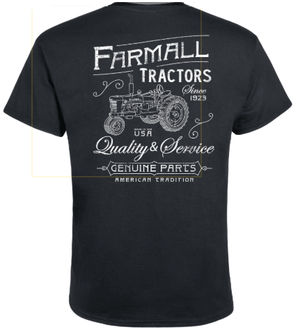 DAMAGED Men's Farmall Tractors Vintage T-Shirt