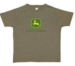 John Deere Kid's Olive Logo T-Shirt
