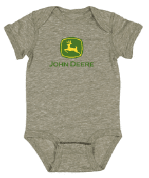 John Deere Olive Green Onesie
