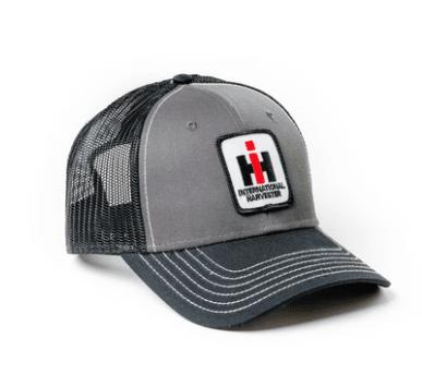 International Harvester Logo Hat Gray and Black Mesh
