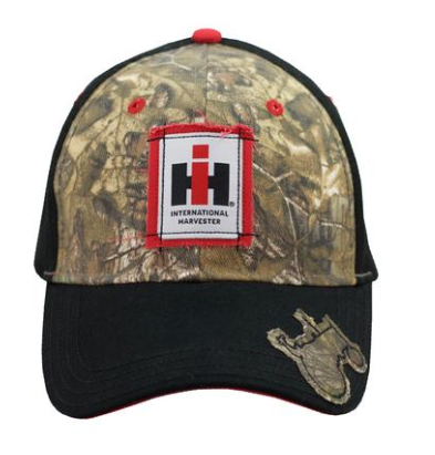 IH Youth Black & Camo Tractor Bill Cap