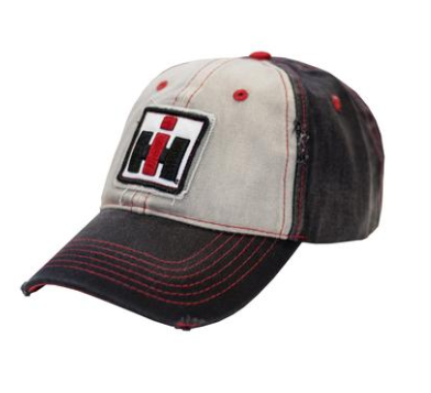 IH Youth Distressed Black and White Logo Cap