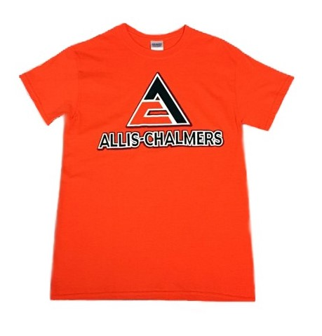 Allis Chalmers Men's Orange Shadow Logo T-Shirt