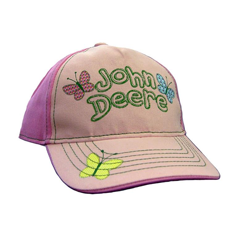 John Deere Butterflies Baseball Cap