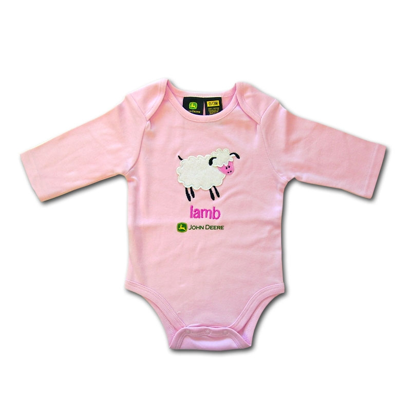 John Deere Lamb Long Sleeve Onesie