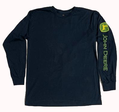 John Deere Navy Long Sleeve Logo T-Shirt