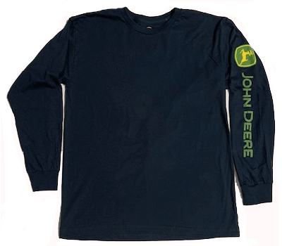 John Deere Navy Long Sleeve Logo T-Shirt