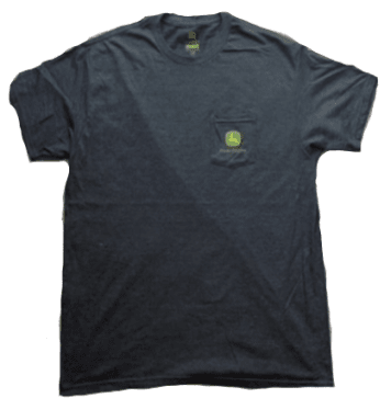 John Deere Charcoal Pocket Logo T-Shirt