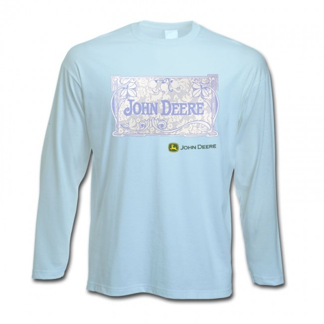 John Deere Floral Square Long Sleeve T-Shirt