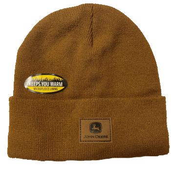 John Deere Fleece Lined Knit Hat