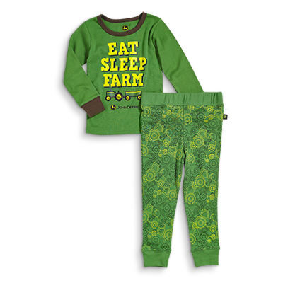 John Deere Eat Sleep Farm Pajamas