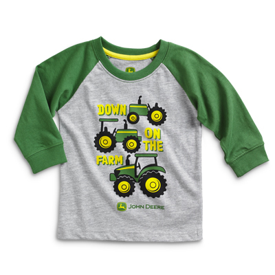 John Deere Down On The Farm Long Sleeve T-Shirt