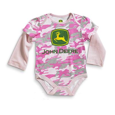 John Deere Logo Long Sleeve Onesie