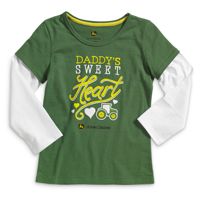 John Deere Daddy's Sweet Heart Long Sleeve T-Shirt