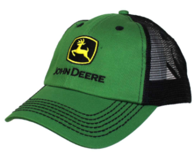 John Deere Green and Black Mesh Baseball Hat